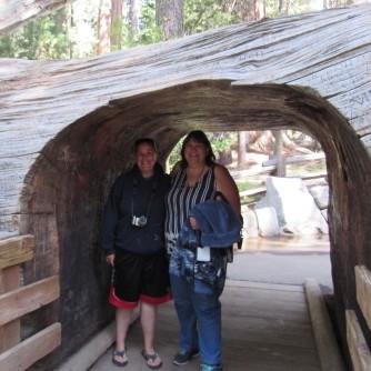 Erika and Mom (Sherry) at General Sherman Trail Loop